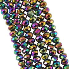 Jewelry Faceted 70pcs #5040 6x8mm Rondelle glass Crystal Flat Beads #264
