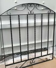 Wrought Iron Metal Arched Scroll Tall Gate 86 Cm X 106 cm garden Fence as a gate
