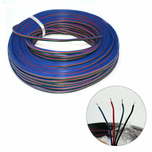 4Pin 5050 3528 RGB Extension Cable LED Strip Light Adapter Connector Wire 22 AWG