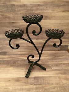 Wrought Iron Candelabra - Candle Holder HOME ACCENTS LIFESTYLES 3x3 Candles Inc.