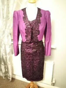 Condichi Mother Of Bride Dress Ladies Day Races Dress Posh purple black lace