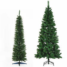 Albero di Natale Artificiale Slim con 390/ 631 Rami Supporto in Metallo