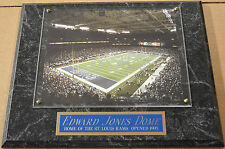 EDWARD JONES DOME ST. LOUIS RAMS FRAMED 8 X 10 PHOTO-MAN CAVE-12X15 WALL PLAQUE