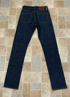 GUSTIN Button Fly Selvedge Dark Wash Denim Jeans Slim Made in USA Size 29x34