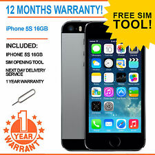 Apple iPhone 5S 16GB EE Orange T-Mobile Virgin Mobile - Space Grey
