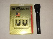 Mini Maglite 2AA Black w/Anti Roll and Mounting Brackets