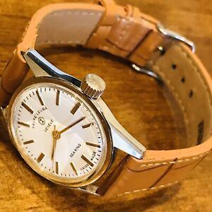 Vintage Favre Leuba Geneve Sea King Swiss Mechanical Watch.