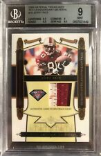 JERRY RICE 2008 National Treasures 75th Anniversary Material #10 /25 BGS 9 POP 1