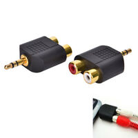 3.5mm Jack to 2 RCA Adaptor Twin Phono Y Splitter Stereo Male to 2 x FemaleJH