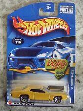 HOT WHEELS BLUE CARD CARD#116 2002 RELEASE '71 PLYMOUTH GTX