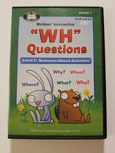 "Webber Interactive ""WH"" Questions Level 1: Sentence-based Activities"