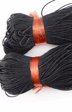 2 metert*1mm Black Waxed Cotton Cord Thong Jewellery Making Thread String