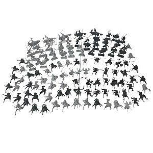 Vintage 1996 Manley Toys Plastic Medieval Knight Figures Lot Of 116 Men 5 Horses