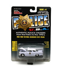 1956 Ford Colorado State Police Police Usa Issue #1 Diecast 1:60 Free Shipping