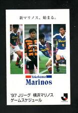 Yokohama Marinos--1997 Pocket Schedule--Kodak--J League