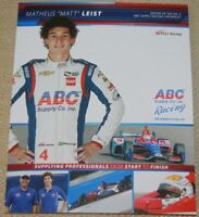 2018 Matheus Leist ABC Supply Chevy Dallara Indy Car postcard