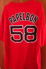 BOSTON RED SOX T shirt XL Jonathan Papelbon baseball pitcher #58 beat-up tee