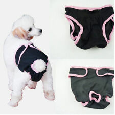 Washable Dog Diaper Female Dog Breeds Pet Pant Sanitary Underwear Black S