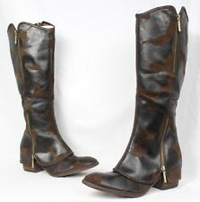 Donald J Pliner NEW Devi 3 Brown Suede Knee High Riding Heels Boots SZ 8 $498