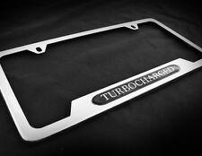 Stainless Chrome Turbocharged license plate for Fiat Volkswagen Bentley BMW