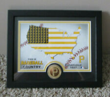 FRAMED HIGHLAND MINT PITTSBURGH PIRATES COIN & FLAG PHOTO ESTABLISHED 1887 RARE