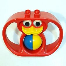 Vintage LEGO Duplo Baby Rattle With Duck Face