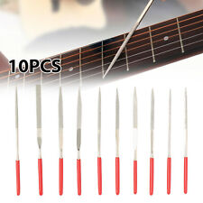10pcs in 1 Guitar Fret Nut Saddle Slot Grinding File Set Luthier Repair Tool