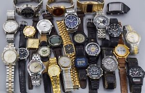 Lot of 27 Timex, Elgin, Fossil, Supera, Surface, Pulsar & More Quartz Watches