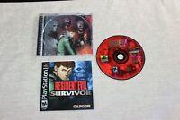 Resident Evil Survivor (PlayStation 1, 2000) Black Label - Complete & Tested