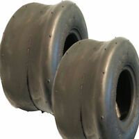 2) 11x6.00-5 Go Kart Fun Yard Cart Riding Lawn Mower Slick Smooth TIRE 4ply NHS