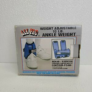 All Pro 1/2 Lb-10 Lb SINGLE ANKLE exercise Adjustable Weight Cushion comfortable