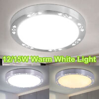 Modern Round LED Ceiling Down Light Flush Mount Fixture Lamp Bedroom Living