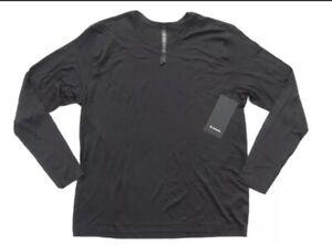 NWT Lululemon Metal Vent Breathe Long Sleeve Shirt Size Medium, Color:Black