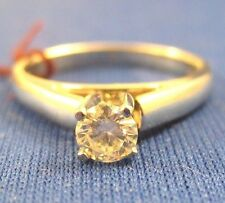 Platinum VINTAGE~ 0.38 CT DIAMOND SOLITAIRE ENGAGEMENT RING ~5.19 Grams Size 6.0