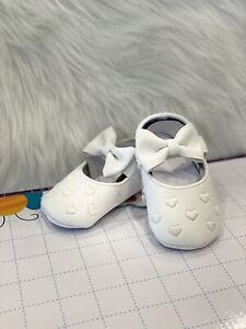 Baby Girl First Walking Shoes White Embroidery