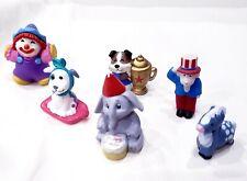 Lot of 6 Hallmark Merry Miniature Uncle Sam Goat, Clown, Elephant, Dogs & Horse