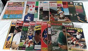 "Lot De 13 ""Miroir Du Football"" Et 8 Football Magazine+1Cahier de l'Equipe 1967"