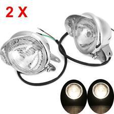 Pair Fog Passing Headlight For Yamaha V-Star XVS 250 650 950 1100 1300 XVZ1300