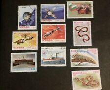 Nicaragua Stamps 1982  space reptiles telecoms