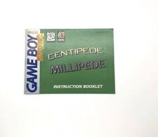 Arcade Classic 2 Centipede / Millipede Gameboy Gb 2 Manuals Only. No Game