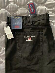 NWT U.S polo assn mens jeans black mens plus size jeans NEW