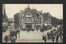 """DEAUVILLE (14) AUTOMOBILES au COMMERCE """"AU PRINTEMPS"""" animé début 1900"""