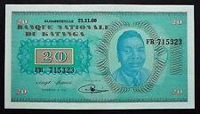 Katanga - 20 Francs - 21 novembre 1960