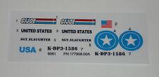 GI Joe Triple T Tag Team Terminator Sticker Decal Sheet