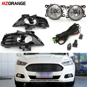 For Ford Fusion Mondeo 2013-16 Front Bumper Fog Light Cover Harness Wiring Lamp