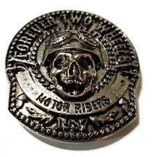 concho screw snap Skull forever two wheels Gothic biker wallet trucker