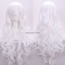 US Stock Women's Full Wig Long Curly Mixed Color Costume Cosplay Fancy Wigs mbng