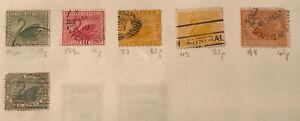 Vintage WESTERN AUSTRALIA Postage Stamps. Swans Series 1/2,1,2,4