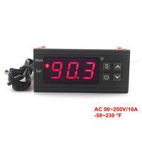 Digital Temperature Controller KT1210W 110V 220V 10A LED Thermostat NTC Sensor
