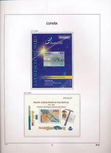 XC50128 Spain 2003 geology philatelic exhibition sheets MNH
